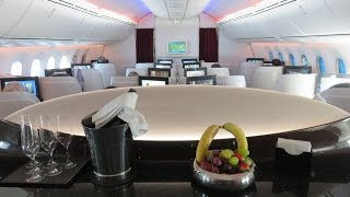 Download Qatar Airways Dreamliner B787-8 Business Class Brussels to Doha Video