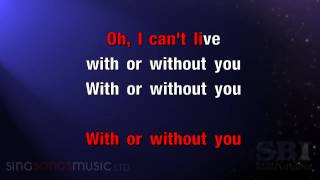Download With Or Without You Karaoke HD In the style of U2 Video