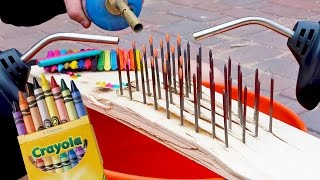 Download 1000 DEGREE NAILS VS CRAYONS! *INSTANT MELTING* Video