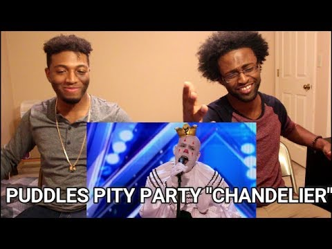 "Puddles Pity Party: Sad Clown Stuns Crowd with Sia's ""Chandelier"" - AGT 2017 (REACTION)"