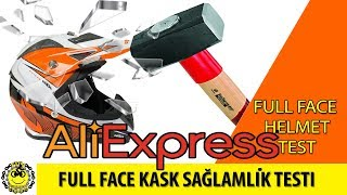Download ALİEXPRESS KASK SAĞLAMLIK TESTİ/FULL FACE HELMET CRASH TEST Video