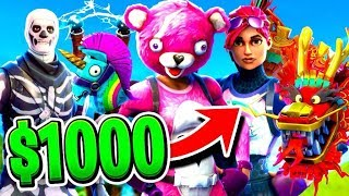 Download I SPENT $1000 on FORTNITE Battle Royale... Video