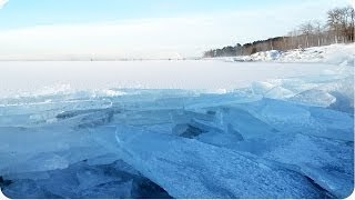 Download Waves Of Ice On Lake Superior   INCREDIBLE Pile Up Video