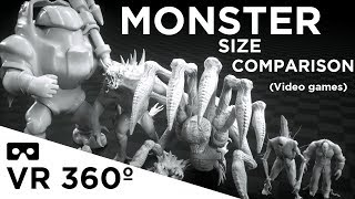 Download Monsters Size Comparison VR 360 (Video games) Video