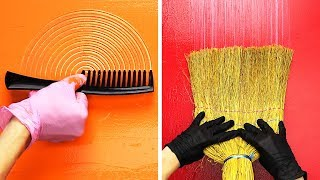 Download 23 WALL PAINTING IDEAS USING ORDINARY THINGS Video