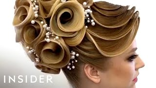 Download This hairstylist does unbelievable designs with hair Video