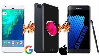 Download Google Pixel XL vs iPhone 7 Plus vs Galaxy Note 7 - ULTIMATE COMPARISON ! Video