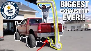 Download WORLDS BIGGEST EXHAUST TIP EVER ON MY CUMMINS!! Video
