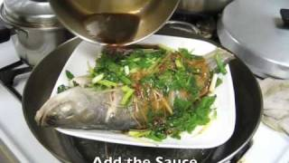 Download Simple Steamed Fish with Ginger, Shallots and Greens Video