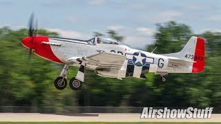 Download Warbird Arrivals and Departures - Monday (Part 1) - EAA AirVenture Oshkosh 2017 Video