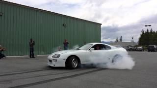 Download Toyota supra epic burnout! Video