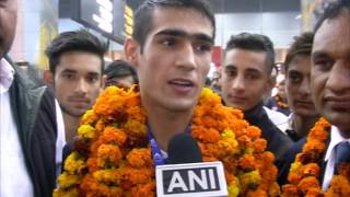 Download Indian boxers arrive to hero's welcome in New Delhi Video