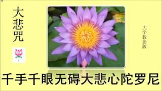 Download 千手千眼无碍大悲心陀罗尼《大悲咒大字教念7遍版》 Video