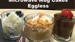 Download 3 Classic Microwave Mug Cakes without Eggs   Vanilla, Chocolate and Carrot Cake Recipe Video