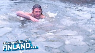 Download SAVAGE ICE SWIMMING CHALLENGE! - Meanwhile In Finland EP 2 Video