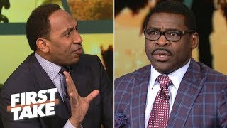 Download Stephen A. Smith Has Heated Argument With Michael Irvin | First Take | March 24, 2017 Video