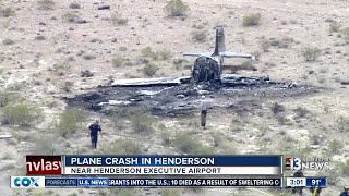 Download Plane crashes near Henderson airport Video