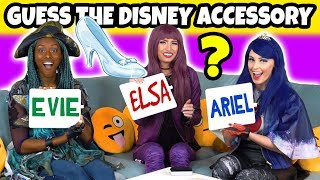 Download Guess the Disney Movie Character Accessory. (With Descendants 2 Mal, Evie and Uma Dress Up) Video