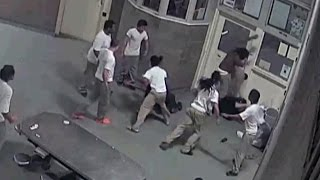 Download Surveillance Video Shows How 3 Inmates Brutally Beat Their Jail Guards Video