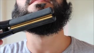 Download STRAIGHTENING MY BEARD WITH A HAIR STRAIGHTENER Video