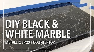 Download DIY Black & White Marble Countertop Resurfacing With Epoxy Resin Video