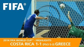 Download COSTA RICA v GREECE (1:1 PSO 5:3) - 2014 FIFA World Cup™ Video