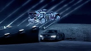Download Ken Block y el Ford Fiesta en la oscuridad contra Lamborgini, BMW y Audi Video