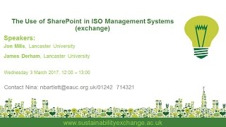 Download The Use of SharePoint in ISO Management Systems (exchange webinar) Video