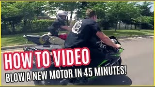 Download HOW To BLOW A NEW Street Bike MOTOR in 45 MINUTES Video