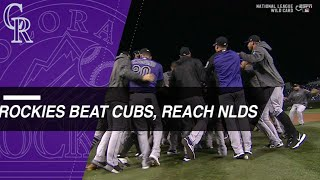 Download Rockies beat Cubs in Wild Card, advance to NLDS Video