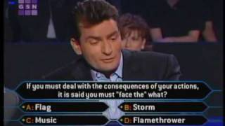 Download 1/2 Charlie Sheen on celeb millionaire Video