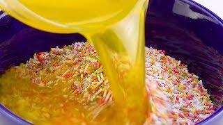 Download Rezept für Regenbogen-Käsekuchen ergibt 2 ganze Kuchen! Video