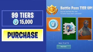 Download BUYING EVERY SEASON 4 BATTLE PASS TIER in Fortnite: Battle Royale Video