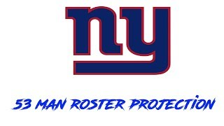 Download New York Giants Projected 53 Man Roster for the 2019 Regular Season! Video