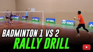 Download Badminton 4 Corners Defense Drill (1 vs 2 Rally) Coach Kowi Chandra Video