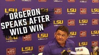 Download Ed Orgeron's press conference following wild win over Auburn Video