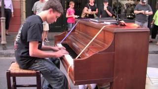 Download Incredible Boy Plays Street Piano in New Orleans Video