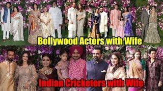 Download Bollywood and Cricketers Real Life Couples at Akash Ambani and Shloka Mehta Wedding | FULL VIDEO Video