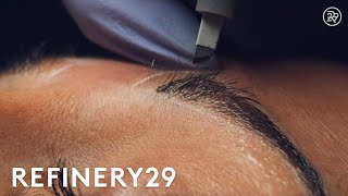 Download Microblading Permanent Eyebrow Tattoo Up Close | Macro Beauty | Refinery29 Video