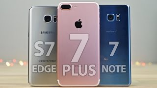 Download iPhone 7 Plus vs Samsung Galaxy S7 Edge & Note 7 Full Comparison! Video