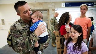 Download Soldier Meets Baby for First Time Compilation (2013) Video