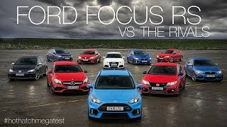 Download Ford Focus RS vs Honda Civic Type-R vs Audi RS3 vs Mercedes-AMG A45 & more: Hot Hatch Mega Test Video