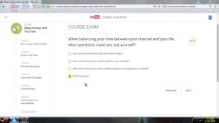 Download Youtube creator academy course Exam Answers (Updated) Video