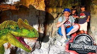 Download Juguetes JURASSIC WORLD 2 😱LA CUEVA DE LOS DINOSAURIOS🦖ANKYLO, PTERANODON, STYGI, CERATOSAURUS... Video