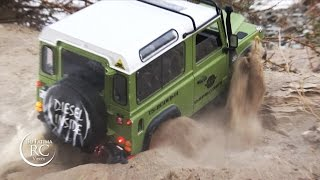 Download RC Land Rover Defenders off-roading, D90, D110 Video