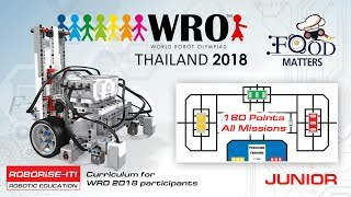 Download WRO 2018 Junior 180 points. Roboriseit curriculums for coaches and teams. Video