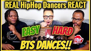 Download REAL Hip Hop DANCERS REACT to EASY to HARDEST BTS DANCES!! Video