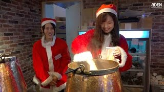 Download Christmas Street Food Market in Fukuoka, Japan Video