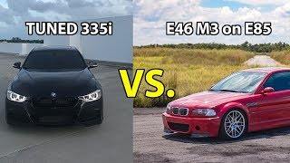 Download THE BEST RACE EVER: Tuned f30 BMW 335i vs e46 M3 Video