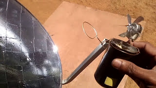 Download MINI SOLAR POWER PLANT Concentrating solar Parabolic Reflector DIY Video